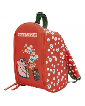 INSULATED RED BACKPACK BY KATUKI SAGUYAKI UNFOLDABLE AND EASY CLEANING