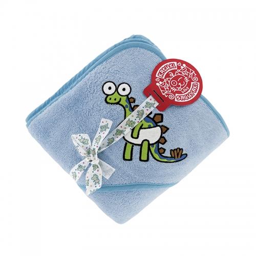 8fa749496f9 ... Toalla amarilla para niños y bebés de Kayuki Saguyaki 100% algodón y  con capucha bordada