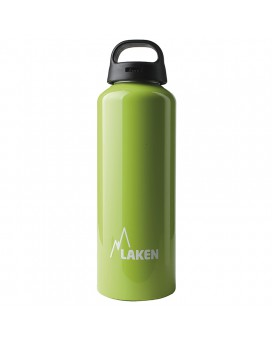 ALUMINIUM DRINKING BOTTLE 0,75L GREEN CLASSIC (WIDE MOUTH)