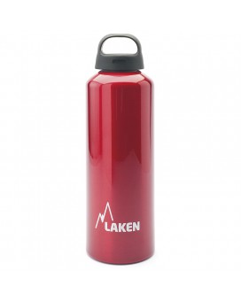 1L RED CLASSIC ALUMINIUM BOTTLE (WIDE MOUTH)