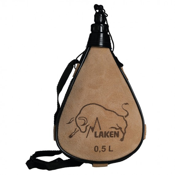 Leather canteen 0,5 L. straight form