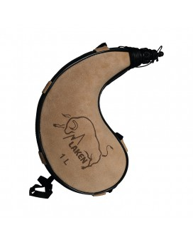 LEATHER CANTEEN CURVED FORM 1L