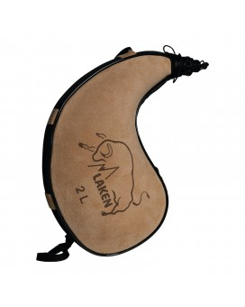 LEATHER CANTEEN CURVED FORM 2L