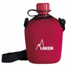 POLYTHENE CANTEEN 1L WITH RED NEOPRENE COVER