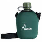 Polyethylene canteen 1 L. with neoprene cover