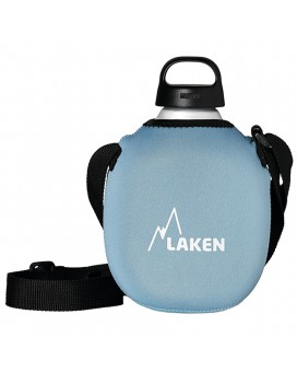 ALUMINIUM CANTEEN 1L WITH BLUE NEOPRENE COVER
