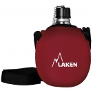 ALUMINIUM CANTEEN 1L WITH RED NEOPRENE COVER