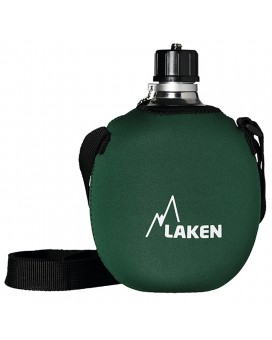 ALUMINIUM CANTEEN 1L WITH GREEN NEOPRENE COVER