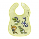WATERPROOF GREEN PEVA BIB BY KATUKI SAGUYAKI WITH POCKET AND VELCRO FASTENER