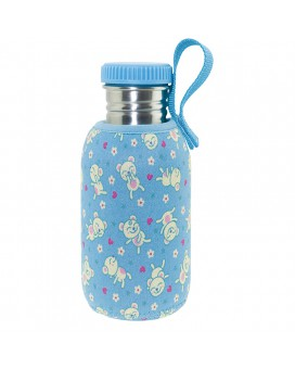 STAINLESS STEEL BOTTLE 0,5L WITH BLUE NEOPRENE COVER BY KATUKI SAGUYAKI