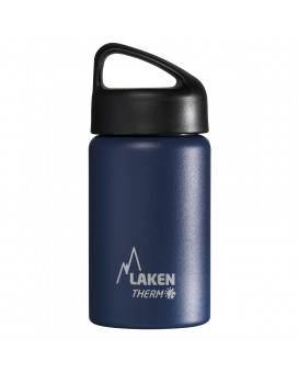 BLUE 0.35L STAINLESS STEEL THERMO BOTTLE - CLASSIC (WIDE MOUTH)