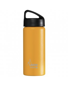 YELLOW 0.5L STAINLESS STEEL THERMO BOTTLE - CLASSIC (WIDE MOUTH)