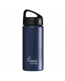 BLUE 0.5L STAINLESS STEEL THERMO BOTTLE - CLASSIC (WIDE MOUTH)