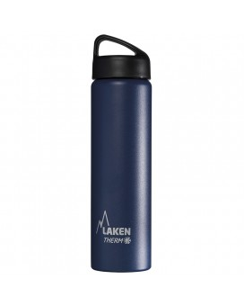 BLUE 0.75L STAINLESS STEEL THERMO BOTTLE - CLASSIC (WIDE MOUTH)
