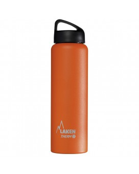 ORANGE 1L STAINLESS STEEL THERMO BOTTLE - CLASSIC (WIDE MOUTH)