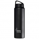 BLACK 1L STAINLESS STEEL THERMO BOTTLE - CLASSIC (WIDE MOUTH)
