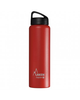 RED 1L STAINLESS STEEL THERMO BOTTLE - CLASSIC (WIDE MOUTH)