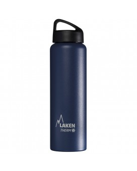 BLUE 1L STAINLESS STEEL THERMO BOTTLE - CLASSIC (WIDE MOUTH)