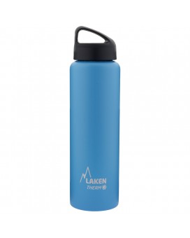 LIGHT BLUE 1L STAINLESS STEEL THERMO BOTTLE - CLASSIC (WIDE MOUTH)