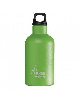 GREEN THERMO BOTTLE 0.35L STAINLESS STEEL FUTURA (NARROW MOUTH)