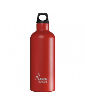 RED STAINLESS STEEL THERMO BOTTLE 0.5L FUTURA (NARROW MOUTH)
