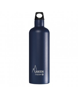 BLUE STAINLESS STEEL THERMO BOTTLE 0.75L FUTURA (NARROW MOUTH)