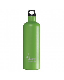 GREEN STAINLESS STEEL THERMO BOTTLE 0.75L FUTURA (NARROW MOUTH)