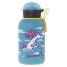 INSULATED STAINLESS STEEL BOTTLE 0,35L WITH TURQUOISE NEOPRENE COVER BY KATUKI SAGUYAKI
