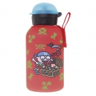 INSULATED STAINLESS STEEL BOTTLE 0,35L WITH RED NEOPRENE COVER BY KATUKI SAGUYAKI
