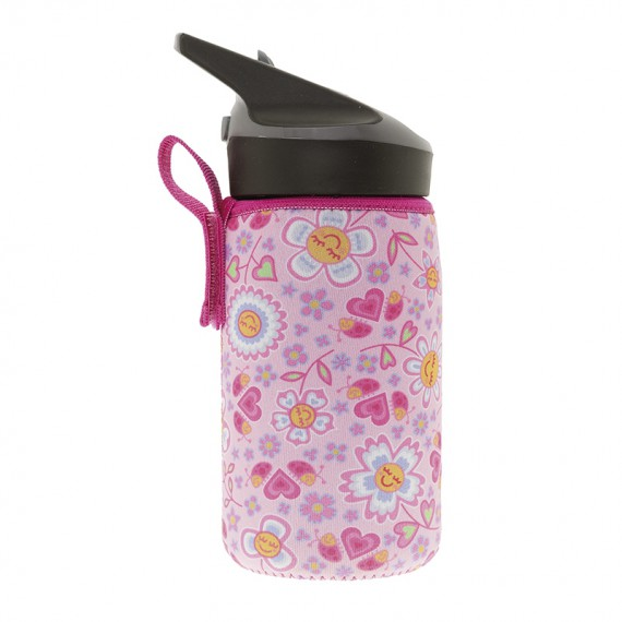 TRITAN BOTTLE 0,45L WITH PINK NEOPRENE COVER BY KATUKI SAGUYAKI