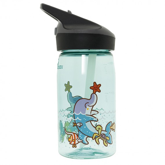 TRITAN BLUE BOTTLE FOR KIDS 0,45L WITH JANNU CAP BY KATUKI SAGUYAKI
