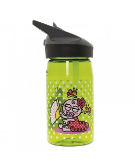 TRITAN GREEN BOTTLE FOR KIDS 0,45L WITH JANNU CAP BY KATUKI SAGUYAKI