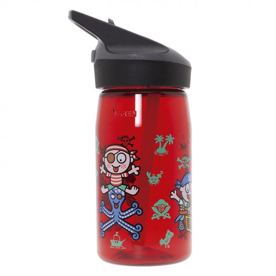 TRITAN RED BOTTLE FOR KIDS 0,45L WITH JANNU CAP BY KATUKI SAGUYAKI