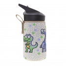 INSULATED STAINLESS STEEL BOTTLE 0,35L WITH BEIGE NEOPRENE COVER BY KATUKI SAGUYAKI