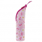 STAINLESS STEEL THERMO LIQUIDS FLASK 0,35L WITH PINK NEOPRENE COVER BY KATUKI SAGUYAKI