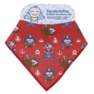 100% ORGANIC COTTON RED DRIBBLE BANDANA BIB BY KATUKI SAGUYAKI