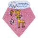 100% ORGANIC COTTON PINK DRIBBLE BANDANA BIB BY KATUKI SAGUYAKI