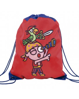 RED BACKPACK BAGS FOR KIDS BY KATUKI SAGUYAKI