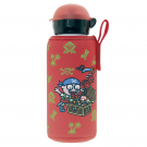 ALUMINIUM BOTTLE FOR KIDS 0,45L WITH RED NEOPRENE COVER BY KATUKI SAGUYAKI