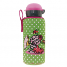 ALUMINIUM BOTTLE FOR KIDS 0,45L WITH GREEN NEOPRENE COVER BY KATUKI SAGUYAKI