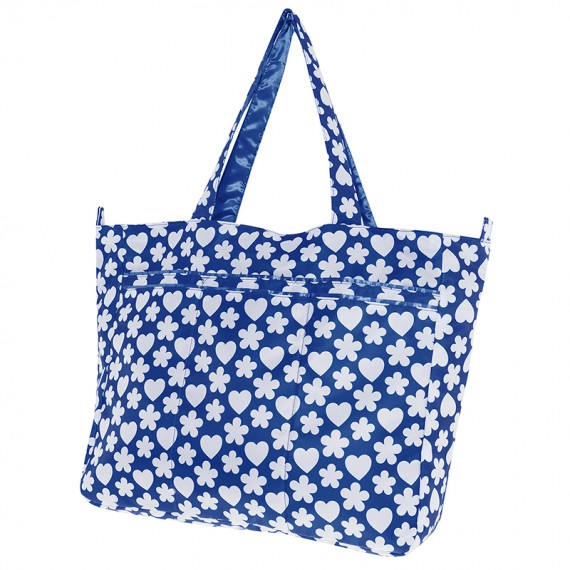 Bolso XL azul ultraligero con forma rectangular de Katuki Saguyaki
