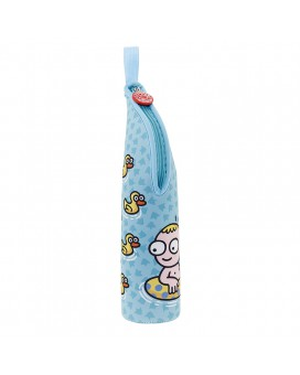 BLUE NEOPRENE COVER FOR BABY BOTTLES AND LITTLE BOTTLES