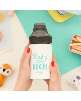 BOTELLA INFANTIL TÉRMICA DE ACERO INOXIDABLE 0,35L DE MR. WONDERFUL