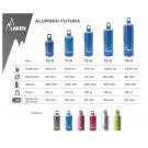 Aluminium drinking bottle FUTURA 0,6 L