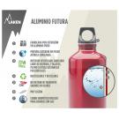 BOTELLA DE ALUMINIO 0,75L AZUL FUTURA (BOCA ESTRECHA)
