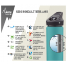 BOTELLA TÉRMICA 0,35L ROJA DE ACERO INOXIDABLE JANNU (BOCA ANCHA)