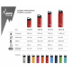 BOTELLA TÉRMICA 0,35L ROJA DE ACERO INOXIDABLE CLASSIC (BOCA ANCHA)