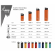 BOTELLA TÉRMICA 0,5L NARANJA DE ACERO INOXIDABLE CLASSIC (BOCA ANCHA)