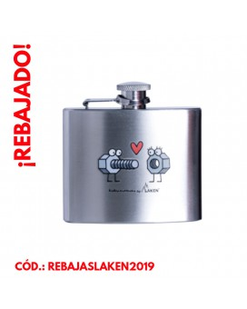 STAINLESS STEEL HIP FLASK 5 oz. ENROSQUE