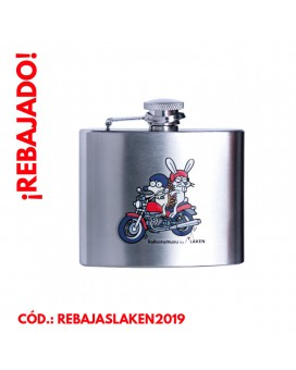 STAINLESS STEEL HIP FLASK 5 oz. PAQUETE